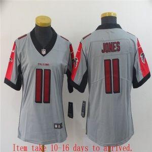 Women Falcons #11 Julio Jones Jersey Inverted